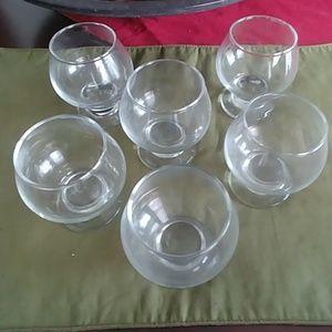 Other - 6 pcs Cognac clear